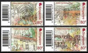 Singapore 1494-1497,MNH.Hawker (Food) Centers:Lau Pa Sat,East Coast,Maxwell,2011