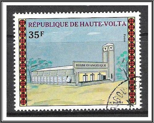 Upper Volta #307 Houses of Worship CTO NH