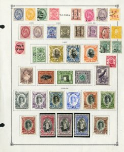 Tonga All Different Mint & Used 1800s to 1930s Vintage Stamp Collection
