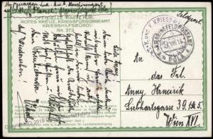Austria Empire WWI Navy Ship SMS Planet Red Cross Russian Battle Feldpost 61749