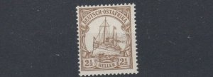 GERMAN EAST AFRICA  1905  S G 26   2 1/2H  BROWN  MH