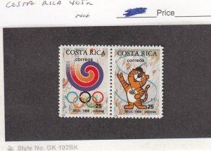 J26283  jlstamps 1988 costa rica pair set mnh #405a olympics