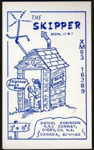 QSL QSO RADIO CARD  The Skipper, Digby, CO. Nova Scotia, Canada (Q281)