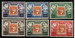 Philippines Scott 605-7,C74-6 Mint NH (Catalog Value $22.45)