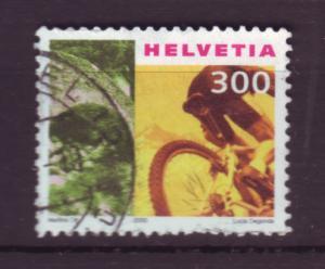 J18543 JLstamps [low price] 2000-01 switzerland used #1091 cyclist sports