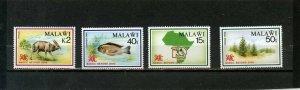 MALAWI 1990 WILDLIFE SET OF 4 STAMPS MNH
