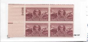United States, 993,Railroad Eng.-Casey Jones Plt.Blk(4), MNH