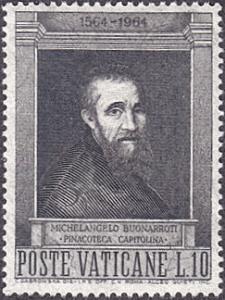 Vatican City # 387 mnh ~ 10 l Michelangelo, After Jacopino del Conte