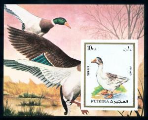 Fujeira MNH S/S Geese Ducks Imp. 1972