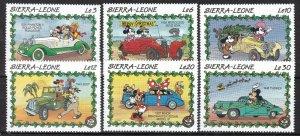 SIERRA LEONE ^^^^sc# 1147-1152   MNH set ( MICKEYS MOUSE)  $$  @ lar 1537sier