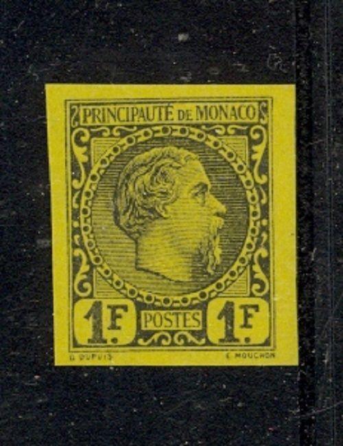 Monaco Scott 9 MInt no gum as issued - IMPERF VF (RARE!)