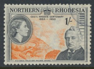 Northern Rhodesia  SG 58  Cecil Rhodes SC# 58 Used  see detail and scans
