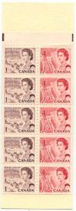 Canada - 1968 1c + 4c Se-Tenant Pane in Booklet #BK56
