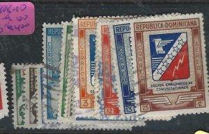 DOMINICAN REPUBLIC   ( P1308B)  SC 408-410, 411-9  ,C53-6     VFU