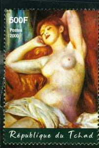 Chad 2000 Nude by Renoir PAINTINGS 1 value Perforated Mint (NH)