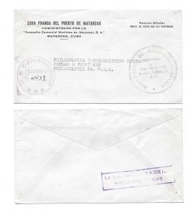 WWII Cuba Censored Official Free Mail to US Censor 4439