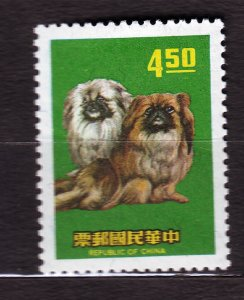 J22952 JLstamps 1969 taiwan hv of set mlh #1636 dog pekingese