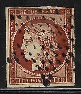 France #9 Used VF C$750.00