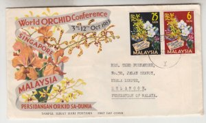 MALAYSIA, 1963 Orchid Conference pair, First Day cover.