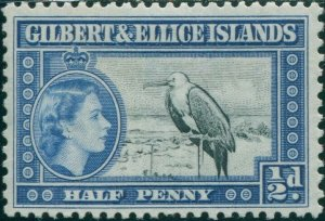 Gilbert & Ellice Islands 1956 SG64 ½d Great Frigate Bird QEII MNH