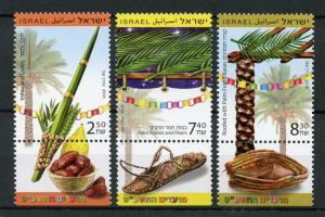 Israel 2018 MNH Festivals Lulav Dates Palm Trees Fronds 3v Set Nature Stamps
