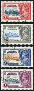 Somaliland Protectorate SG86/89 1935 Silver Jubilee Set Fine Used