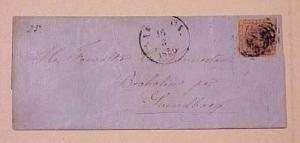 DENMARK   #4 AAROSUND 1856 cat.$660.00 FOUR MARGINS TO SVENDBURG
