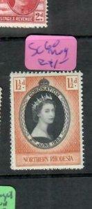 NORTHERN RHODESIA (PP0610B)  QEII   CORONATION  SG 60   MOG