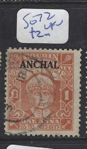 INDIAN NATIVE STATE COCHIN  (P3012B) SG 72   VFU