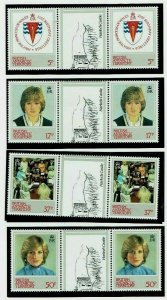 British Antarctic Territory:1982, 21st Birthday, Princes of Wales, MNH + Gutter