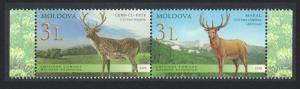 Moldova Deer Fauna 2v Pair SG#616-617