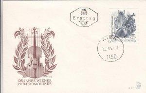 1967, Austria: 125th Anniv. Vienna Philharmonic Orchestra, FDC (D13359)