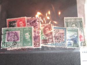 BRITISH HONDURAS  SCOTT # 115//124  USED SHORT SET