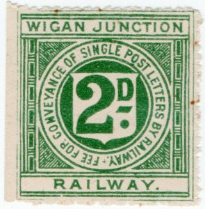 (I.B) Wigan Junction Railway : Letter Stamp 2d