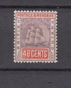 J26593  jlstamps 1889-1903 Br guiana  mh #143 ship lilac/ver wmk 2, check 2 scan