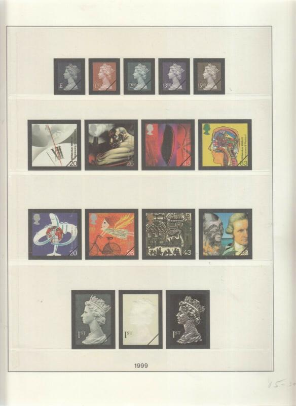 LINDNER LUXURY GB ALBUM PAGES YEARS 1999-2000