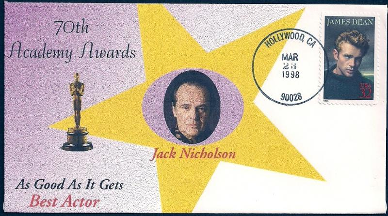 UNITED STATES FDC 32¢ James Dean 1998 Cacheted