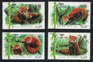 Bhutan WWF Red Panda Ailurus fulgens 4v SG#1794-1797