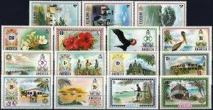 1972 Anguilla Freimarken, Blumen, Landschaften, Vögel MiNr 145-159 ** KAT 50€