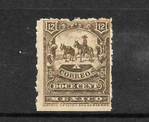 MEXICO  1895  12c OLIVE BROWN  MH  Sc 249