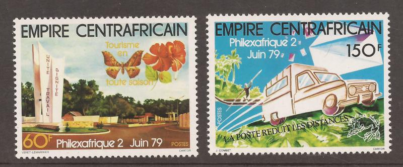 Central African Empire  # 384 - 85  Mint  N H