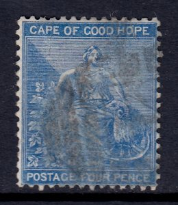 Cape of Good Hope - Scott #17 - Used - Pencil on reverse - SCV $4.25