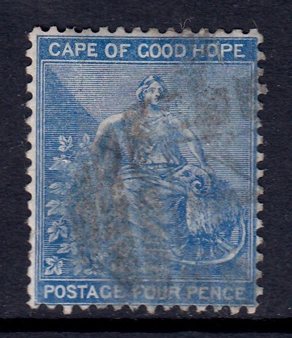 Cape of Good Hope - Scott #17 - Used - Pencil on reverse - SCV $4.25