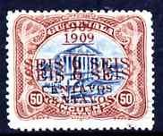 Guatemala 1909 6c on 50c with surcharge doubled very fine...