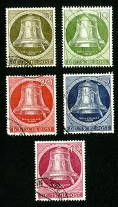 Germany Stamps # 9n75-9 XF Used Set of 5 Scott Value $73.00
