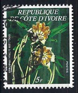 Ivory Coast 447A VFU FLOWERS J599