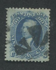 1861 US Stamp #72 90c Used Canceled F/VF Catalogue Value $575