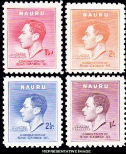 Nauru Scott 35-38 Mint never hinged.