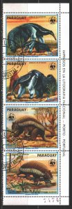 Paraguay. 1988. 4225-28. WWF, anteater. USED.