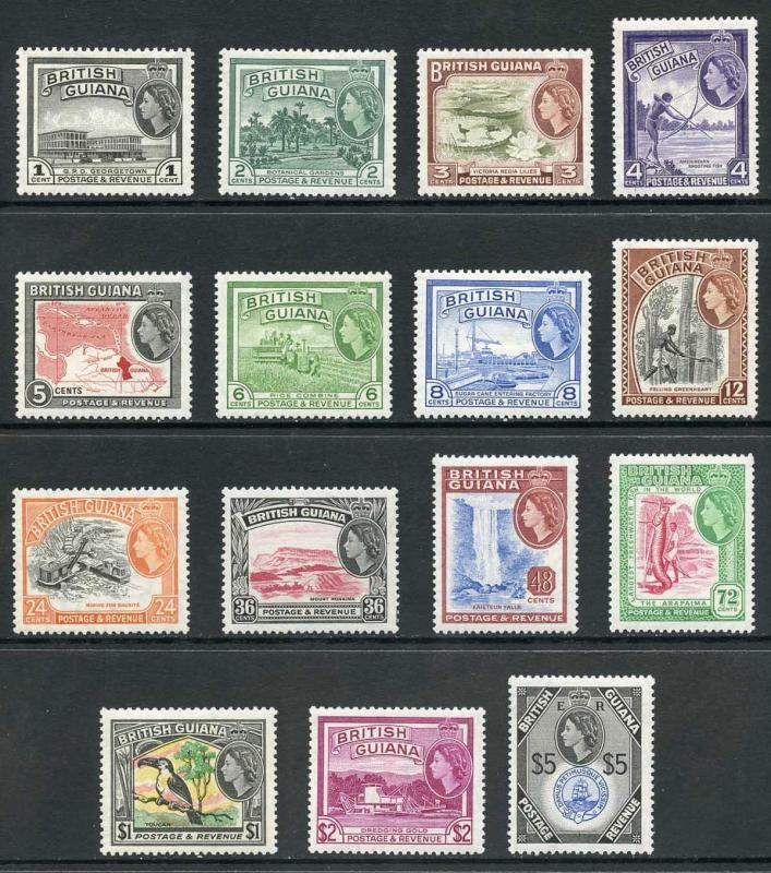 British Guiana SG331/45 1954 Set Fresh U/M